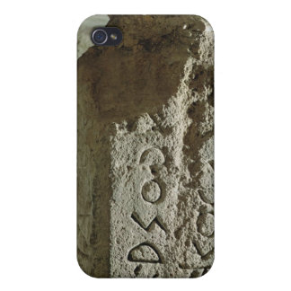 Stele con el texto de una ley sagrada iPhone 4 fundas