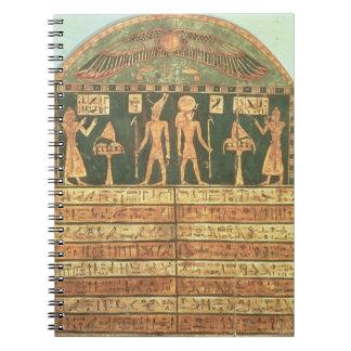 Stele de Horsiese, último período (madera pintada) Spiral Notebook