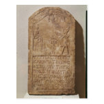 Stele dedicado a ISIS que representa a Cleopatra Tarjeta Postal