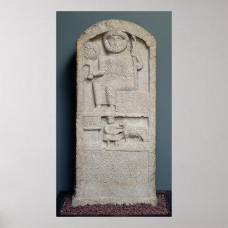 Stele dedicado a Saturn, de EL-Ayaida Póster