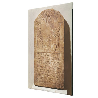 Stele dedicated to Isis depicting Cleopatra Canvas Print