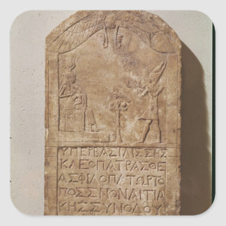 Stele dedicated to Isis depicting Cleopatra Sticker