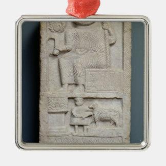 Stele dedicated to Saturn, from El-Ayaida Metal Ornament