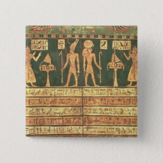 Stele of Horsiese, Late Period (painted wood) Button