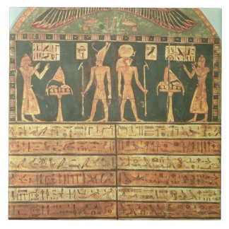 Stele of Horsiese, Late Period (painted wood) Ceramic Tile