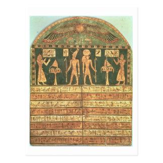 Stele of Horsiese, Late Period (painted wood) Postcard