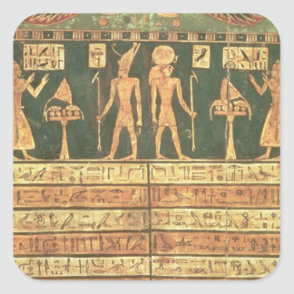 Stele of Horsiese, Late Period (painted wood) Square Sticker