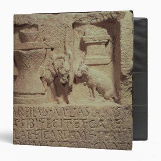 Stele of the miller Marcus Careius Asisa 3 Ring Binder