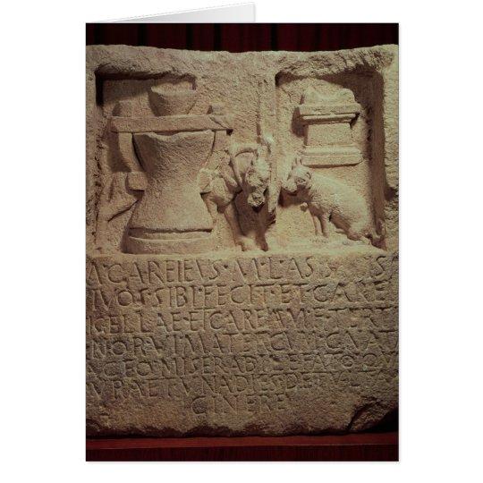 Stele of the miller Marcus Careius Asisa Card
