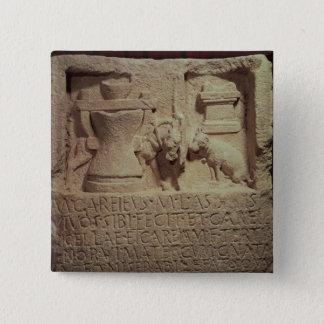 Stele of the miller Marcus Careius Asisa Pinback Button