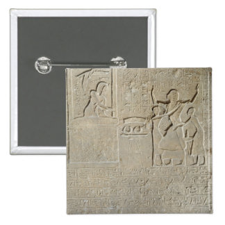 Stele of the necklaces, Hormin receiving the gold 2 Inch Square Button