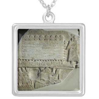 Stele of the Vultures Silver Plated Necklace