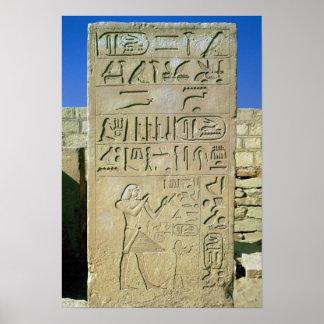 Stele of Unas  Old Kingdom Poster