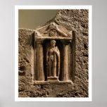 Stele votivo del mármol y de la piedra arenisca co poster