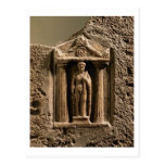 Stele votivo del mármol y de la piedra arenisca co tarjeta postal