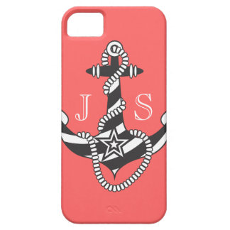 Stella Anchor Down Rope Preppy Pink Personalize iPhone 5 Covers