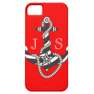 Stella Anchor Down Rope Preppy Red Personalize iPhone 5 Case