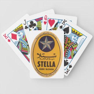 Stella Biere Blonde Beer Label Bicycle Playing Cards