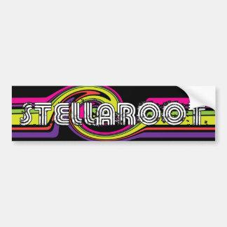 Stella Black Neon Wave Killed Bumper Stickers