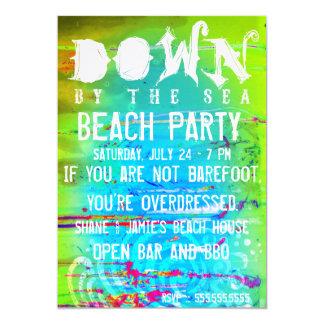 Stella Down By The Sea Beach Party Birthday Card
