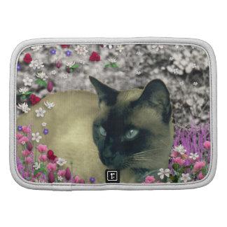 Stella en flores I - gato siamés poner crema del c Organizador