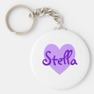 Stella en púrpura llaveros