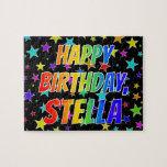 "[ Thumbnail: ""Stella"" First Name, Fun ""Happy Birthday"" Jigsaw Puzzle ]"