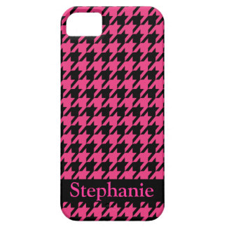 Stella Houndstooth Seventies Throw Back Pink iPhone SE/5/5s Case