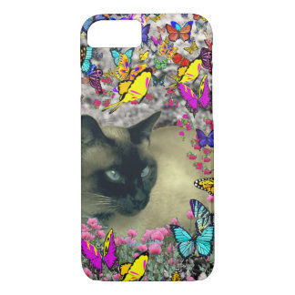 Stella in Butterflies Chocolate Point Siamese Cat iPhone 8/7 Case