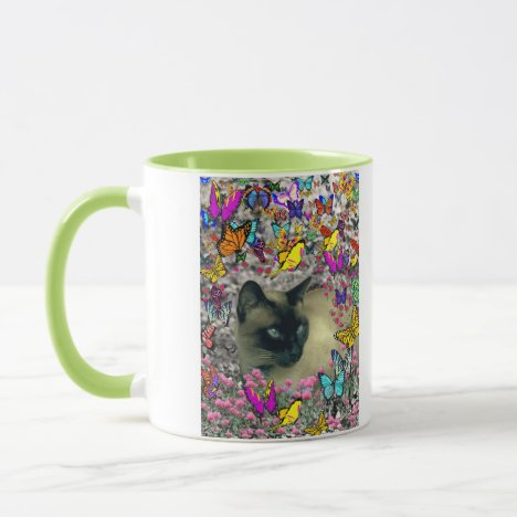 Stella in Butterflies Chocolate Point Siamese Cat Mug