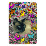 Stella in Butterflies Chocolate Point Siamese Cat Magnet