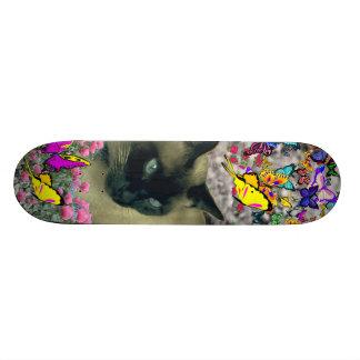 Stella in Butterflies Chocolate Point Siamese Cat Skate Boards