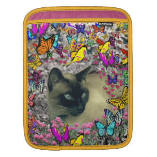 Stella in Butterflies Chocolate Point Siamese Cat Sleeve For iPads