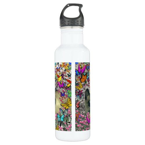 Stella in Butterflies Chocolate Point Siamese Cat Stainless Steel Water Bottle
