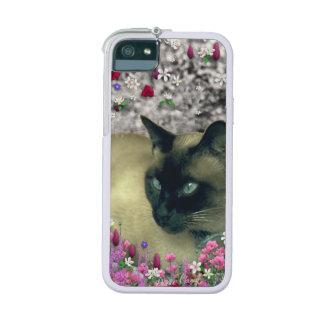 Stella in Flowers I, Chocolate & Cream Siamese Cat iPhone 5 Cases