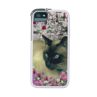 Stella in Flowers I, Chocolate & Cream Siamese Cat Cover For iPhone 5/5S