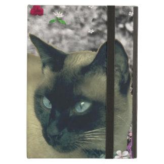 Stella in Flowers I, Chocolate & Cream Siamese Cat Cover For iPad Air