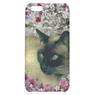 Stella in Flowers I – Chocolate Cream Siamese Cat Cover For iPhone 5C