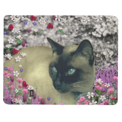Stella in Flowers I, Chocolate & Cream Siamese Cat Journal
