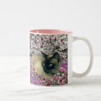 Stella in Flowers I – Chocolate Cream Siamese Cat Coffee Mugs