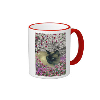 Stella in Flowers I – Chocolate Cream Siamese Cat Mugs