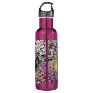 Stella in Flowers I – Chocolate Cream Siamese Cat 24oz Water Bottle