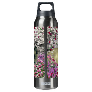 Stella in Flowers I – Chocolate Cream Siamese Cat SIGG Thermo 0.5L Insulated Bottle