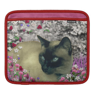 Stella in Flowers I, Chocolate & Cream Siamese Cat Sleeve For iPads