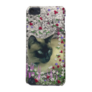 Stella in Flowers II, Chocolate Cream Siamese Cat iPod Touch 5G Cases