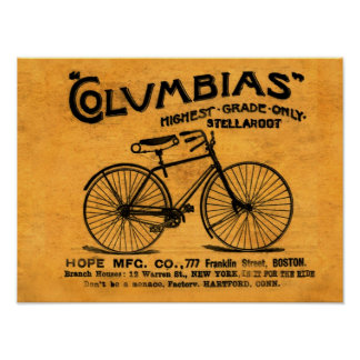Stella leyó entre las líneas bicicleta del vintage póster