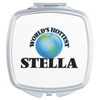 Stella más caliente del mundo espejos compactos