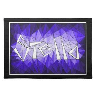 Stella Name Geometric Gemstone Jewel Diamond Place Mat