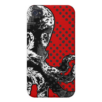 Stella Octopus Jet Red iPhone 4/4S Covers
