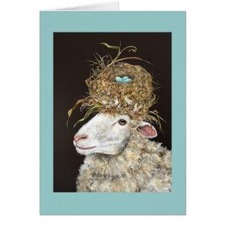 Stella que las ovejas cardan tarjeta de felicitación